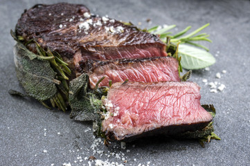 Dry Aged Barbecue Entrecote Steak