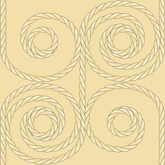 Sea rope seamless pattern