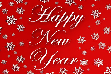 Beautiful elegant text design of happy new year