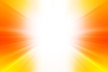 Esplosione di luce su sfondo arancione