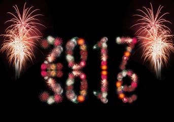 New Year fireworks 2015