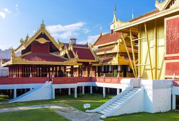 Myanmar, Mandalay, the Royal Palace.