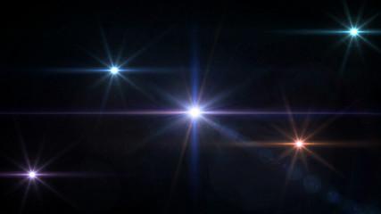 spotlight Glow Star cross blue lens flare