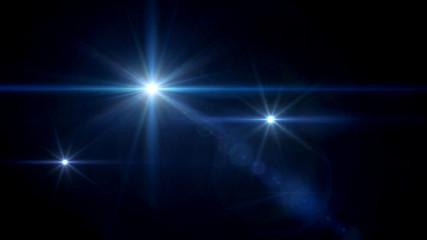 three glow stars lens flare