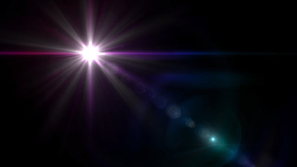 twinkle star lens flare pink