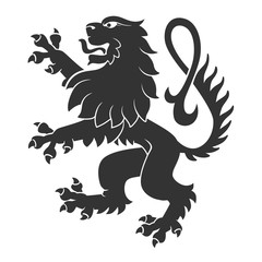 Black Standing Lion