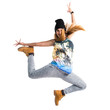 Street dance woman jumping