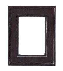 Black leather frame isolated on white background