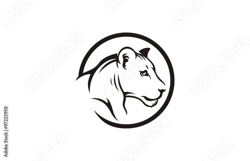 Tiger Face Logo Emblem Template Mascot Symbol For Business Or Shirt