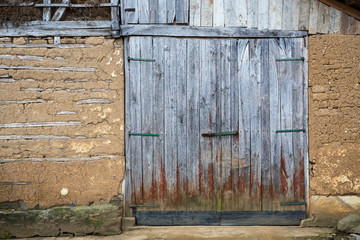 grungy and rustic barn door