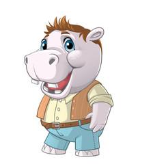 Hippo cartoon character