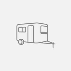 Caravan line icon.
