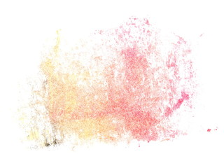 photo light red yellow grunge brush strokes oil paint isolated on white background