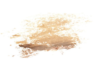 photo light brown grunge brush strokes oil paint isolated on white background