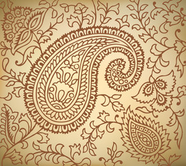 Vector Paisley Pattern Illustration