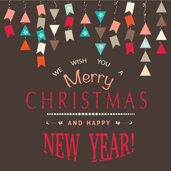 Merry Christmas and Happy New Years card.