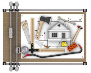 Home construction. Concept