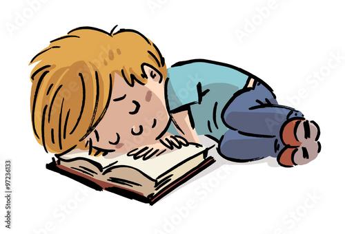 """""""niño Durmiendo Con Libro"""" Fotos De Archivo E Imágenes"""