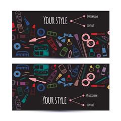 Business creative invitation cards template beauty