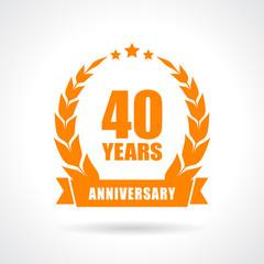 40 years anniversary icon