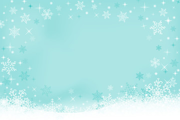 Winter background with snowflakes and space for text. Vector illustration, EPS10.