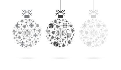 set of snowflake ball balls