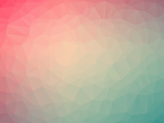 Pink green gradient polygon shaped background