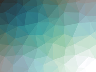 Teal blue green gradient polygon shaped background