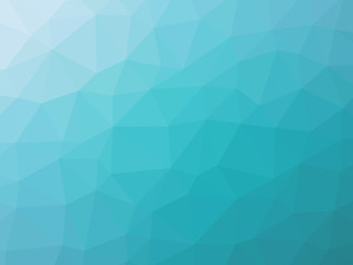 Turquoise gradient polygon shaped background