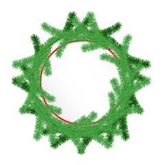 Card with Chrismas wreath