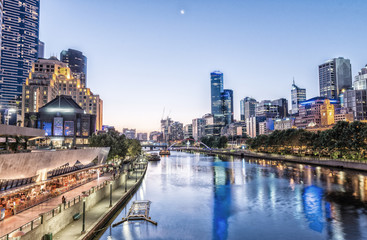 Melbourne, Victoria - Australia. Beautiful city skyline