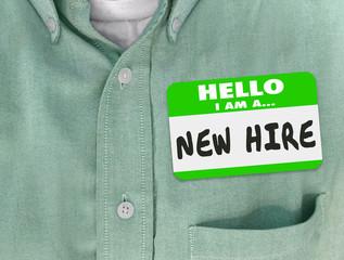 New Hire Nametag Sticker Green Shirt Rookie Employee Fresh Talen