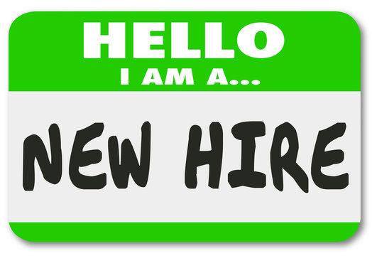 New Hire Nametag Sticker Green Employee Rookie Fresh Talent