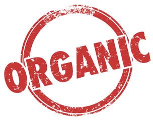 Organic Round Red Stamp Hormone Pesticide Free Food Ingredients