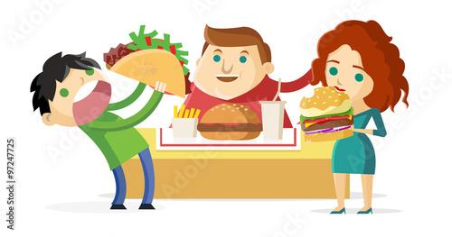 """""""gente Obesa Comiendo Comida Chatarra"""" Imágenes De"""