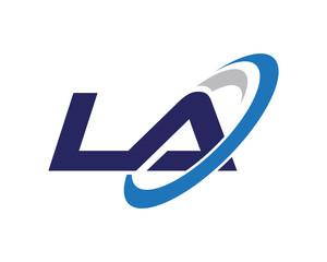 LA Swoosh Letter Auto Logo