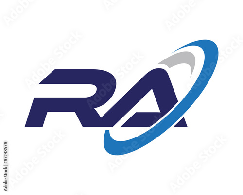 """RA Swoosh Letter Auto Logo"" Stock image and royalty-free ..."