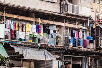 Bangkok city slum