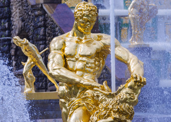 Samson fountain in Peterhof
