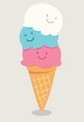 cartoon cute ice cream
