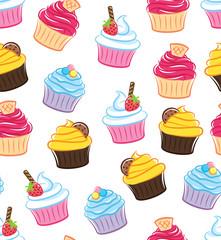cupcake seamless background