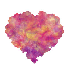 Abstract heart for Invitation or congratulation. Background for greeting card. Watercolor imitation. Vector, EPS 10