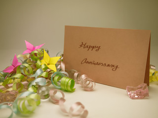 Massage Card; Happy Anniversary