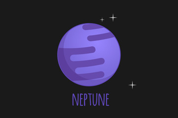Neptune vector illustration