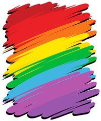Background design with rainbow color