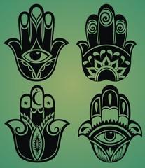 Set of hamsa hand