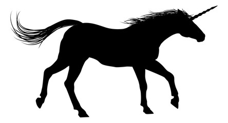 Running Unicorn Silhouette