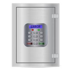 Safe. Pin code keypad for security safe. ERROR