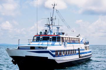 Passenger ship at sea