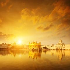 Keuken foto achterwand India Golden Temple India sunrise